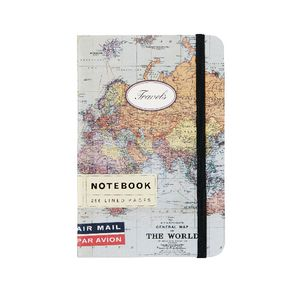 Cavallini Small Notebook World Map Travel
