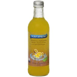 Deep Spring Mineral Water Orange Passionfruit 300mL 24 Pack
