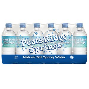 Peats Ridge Natural Still Spring Water 600mL Pack/24