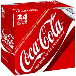Coca-Cola Cans 375mL 24 Pack
