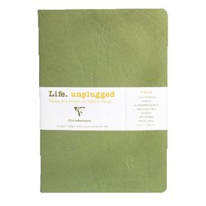 Clairefontaine Essentials A5 Lined Notebook Green 2 Pack
