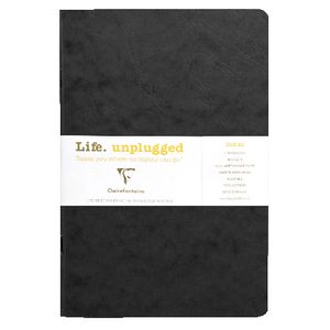 Clairefontaine A5 Plain Notebook Black 2 Pack