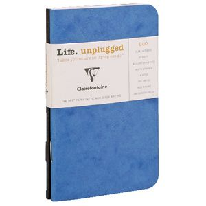 Clairefontaine Lined Notebook Blue 2 Pack