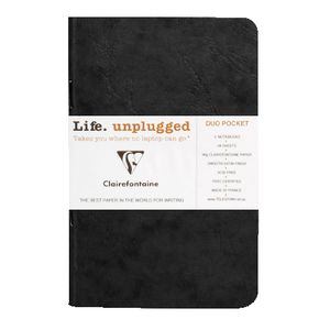 Clairefontaine Plain Notebook Black 2 Pack