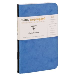 Clairefontaine Plain Notebook Blue 2 Pack