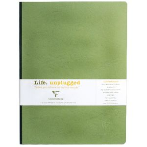Clairefontaine Essentials A4 Plain Notebook Green