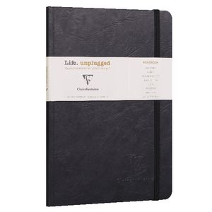 Clairefontaine A5 Lined Roadbook Black