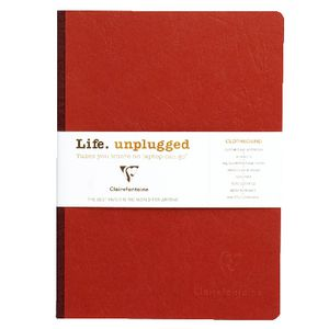 Clairefontaine Essentials A5 Lined Notebook Red