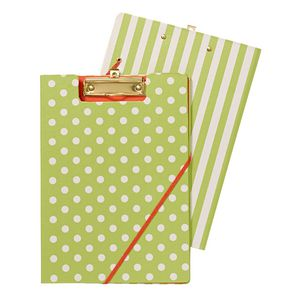 Clipfolder A4 Spot and Stripe Lime