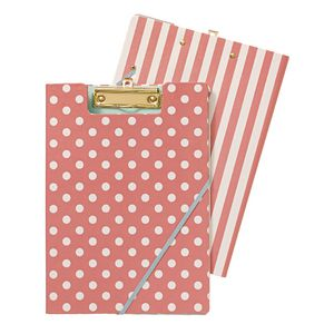 Clipfolder A4 Spot and Stripe Pink