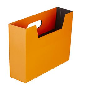 Collapsible Cardboard Document Holder Orange