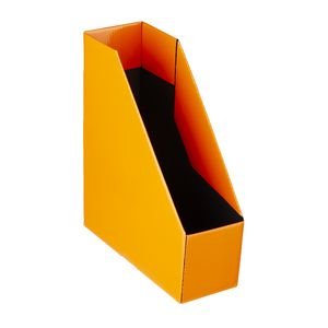 Collapsible Cardboard Magazine File Orange