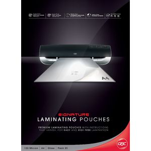 GBC Laminating Pouch A4 125 Micron Gloss 25 Pack