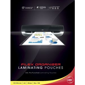 GBC Laminating Pouch A4 125 Micron Filex Gloss 25 Pack