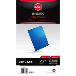 GBC A4 Polypropylene Binding Covers 300micron Blue 25 Pack