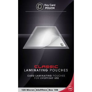 GBC Laminating Pouch 64 x 99mm 125micron Gloss 100 Pack