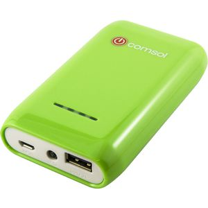 Comsol 6600mAh Block Power Bank USB Charging Pack Green