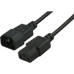Comsol Male IEC-C14 to Female IEC-C13 Power Cable 2m