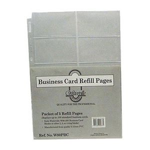 Waterville A4 Business Card Refills, Clear