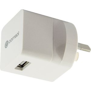 Comsol Single Port USB Wall Charger 1A White