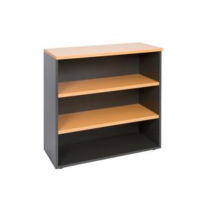 Velocity Bookcase 900mm Golden Beech and Ironstone Grey