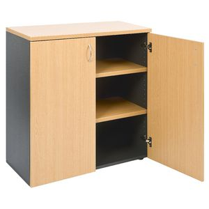 Velocity Cupboard 900mm Golden Beech and Ironstone Grey