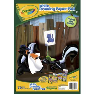 Crayola White Drawing Paper Pad