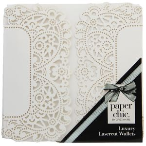 Paper Chic Square Lace Wallets White