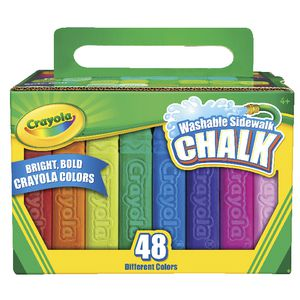 Crayola Washable Sidewalk Chalk 48 Pack