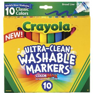 Crayola Ultra Clean Markers 10 Pack