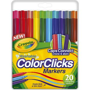 Crayola Washable ColorClicks Markers 20 Pack