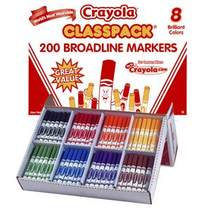 Crayola Classic Washable Marker 200 Classpack