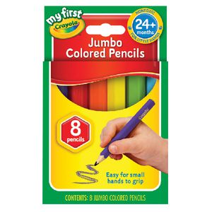 Crayola My First Jumbo Coloured Pencils 8 Pack