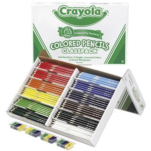 Crayola 240 Coloured Pencils Classpack