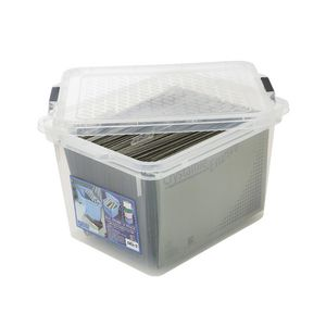 Creation Plastics 40 L File Store n Stack Clear