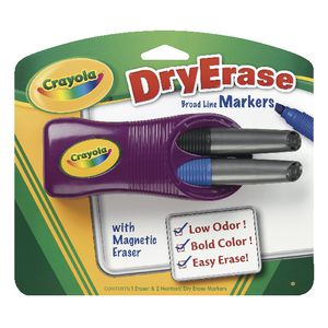 Crayola Whiteboard Magnetic Eraser with 2 Whiteboard Markers