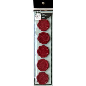 Paper Chic Adhesive Seals Scarlet Crest 5 Pack
