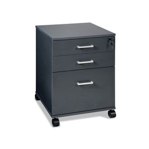 Swivel Toro 3 Drawer Pedestal Dark Grey