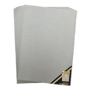 Paper Chic Designer Card 120gsm A4 Silver 10 Pack