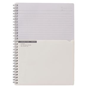 Kokuyo Color Tag Twin Ring Notebook Bi-Color B5 White