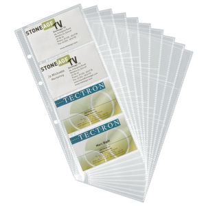 Durable Visifix Business Card Refills 10 Pack