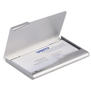 Durable Business Card Box Silver