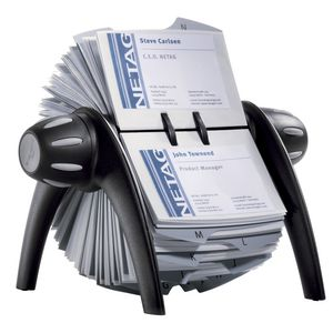 Durable Visifix Rotary Business Card File 400 Capacity Black