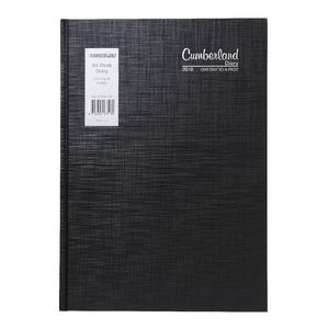 Cumberland Casebound A4 Day to Page 2016 Diary Black