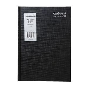 Cumberland Casebound A5 Day to Page 2016 Diary Black