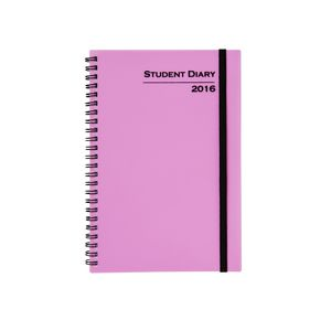 Cumberland Student A5 Week to View 2016 Diary Pink
