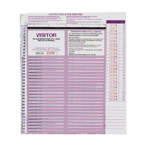 Zions Visitor Pass Register Refills 250 Pack