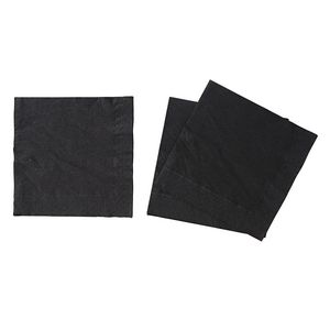 Star Luncheon Napkins 2 Ply Black 2000 Pack