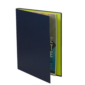 A4 Hard Cover Display Book 20 Fixed Pockets Navy