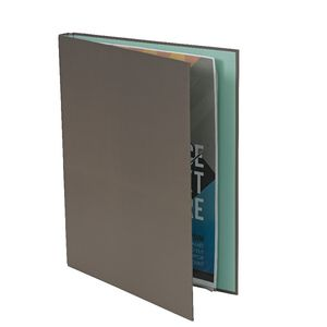 A4 Hard Cover Display Book 20 Fixed Pockets Warm Grey